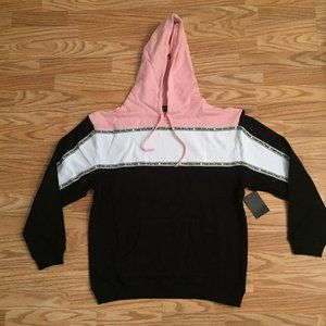 NWT PINK DOLPHIN TRI-BLOCK HOODIE LARGE L